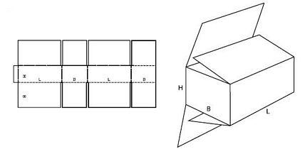 Katalog FEFCO - wzór opakowania nr 203