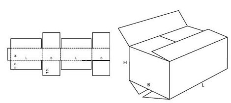 Katalog FEFCO - wzór opakowania nr 204