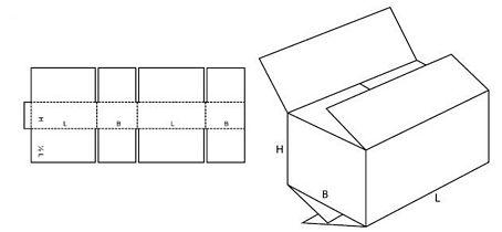 Katalog FEFCO - wzór opakowania nr 205