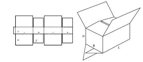 Katalog FEFCO - wzór opakowania nr 206