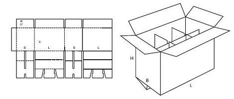 Katalog FEFCO - wzór opakowania nr 207