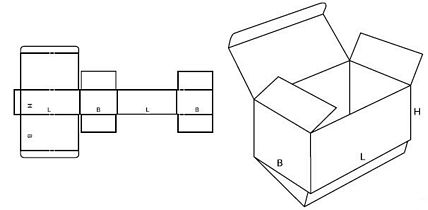 Katalog FEFCO - wzór opakowania nr 210