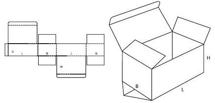 Katalog FEFCO - wzór opakowania nr 211