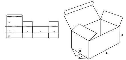 Katalog FEFCO - wzór opakowania nr 212