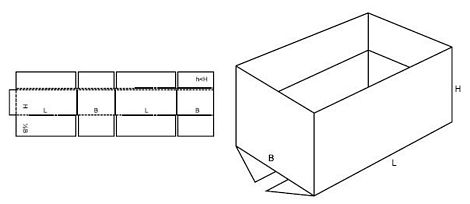 Katalog FEFCO - wzór opakowania nr 214