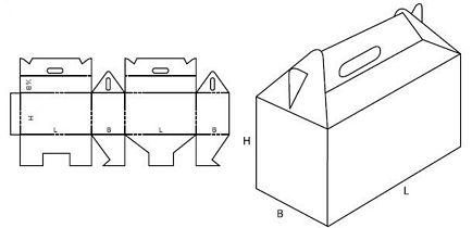 Katalog FEFCO - wzór opakowania nr 217