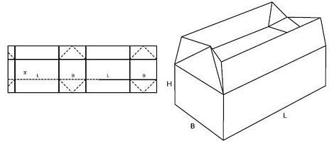Katalog FEFCO - wzór opakowania nr 226
