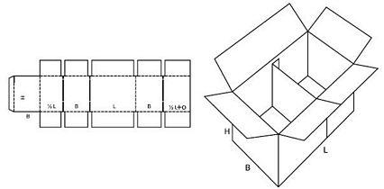 Katalog FEFCO - wzór opakowania nr 228