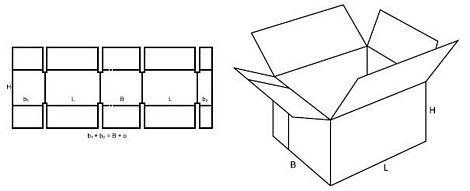 Katalog FEFCO - wzór opakowania nr 231