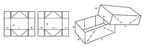 Katalog FEFCO - wzór opakowania nr 304