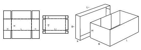Katalog FEFCO - wzór opakowania nr 306