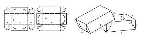Katalog FEFCO - wzór opakowania nr 307