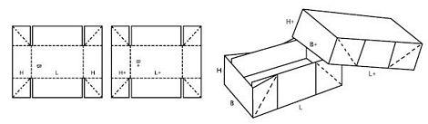 Katalog FEFCO - wzór opakowania nr 308