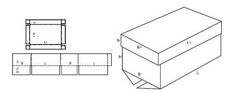Katalog FEFCO - wzór opakowania nr 312