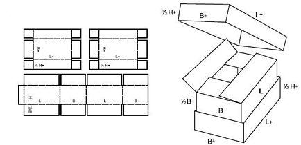 Katalog FEFCO - wzór opakowania nr 313