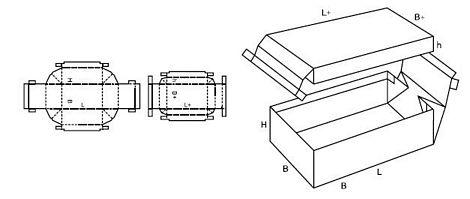 Katalog FEFCO - wzór opakowania nr 322