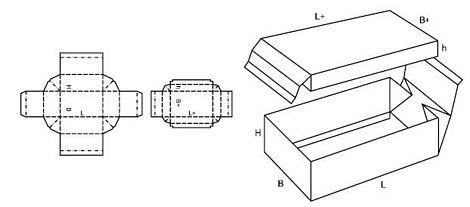 Katalog FEFCO - wzór opakowania nr 323
