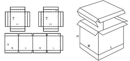 Katalog FEFCO - wzór opakowania nr 325