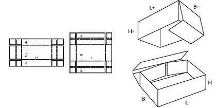 Katalog FEFCO - wzór opakowania nr 331