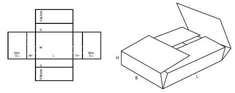 Katalog FEFCO - wzór opakowania nr 402