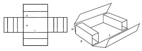 Katalog FEFCO - wzór opakowania nr 403