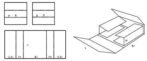 Katalog FEFCO - wzór opakowania nr 405