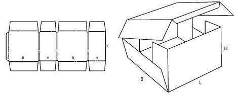 Katalog FEFCO - wzór opakowania nr 406