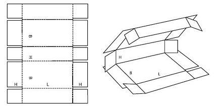 Katalog FEFCO - wzór opakowania nr 409