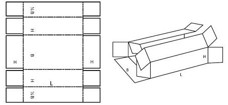 Katalog FEFCO - wzór opakowania nr 411