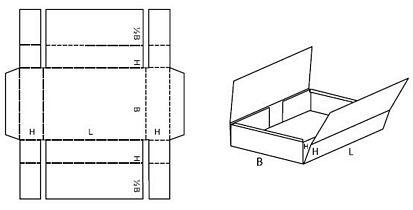 Katalog FEFCO - wzór opakowania nr 412