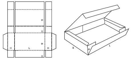 Katalog FEFCO - wzór opakowania nr 413