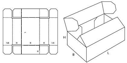 Katalog FEFCO - wzór opakowania nr 416