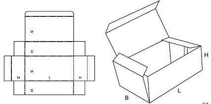 Katalog FEFCO - wzór opakowania nr 420