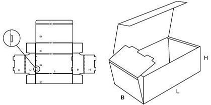 Katalog FEFCO - wzór opakowania nr 421