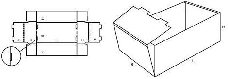 Katalog FEFCO - wzór opakowania nr 422