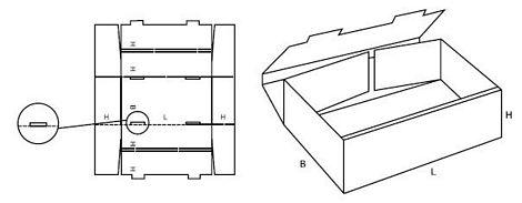 Katalog FEFCO - wzór opakowania nr 423