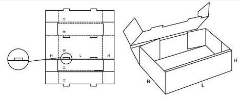 Katalog FEFCO - wzór opakowania nr 424