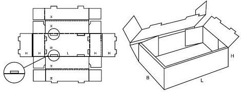 Katalog FEFCO - wzór opakowania nr 425