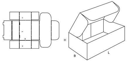 Katalog FEFCO - wzór opakowania nr 426