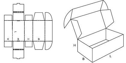Katalog FEFCO - wzór opakowania nr 427