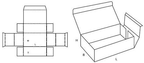 Katalog FEFCO - wzór opakowania nr 428