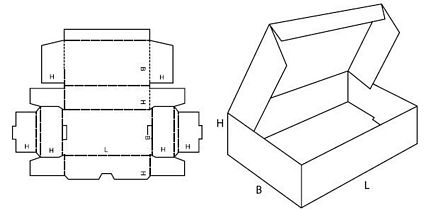 Katalog FEFCO - wzór opakowania nr 429