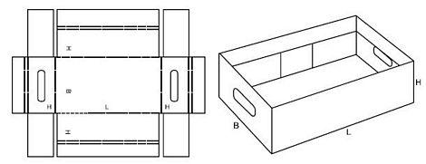 Katalog FEFCO - wzór opakowania nr 430
