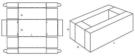Katalog FEFCO - wzór opakowania nr 431