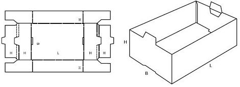 Katalog FEFCO - wzór opakowania nr 435