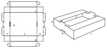 Katalog FEFCO - wzór opakowania nr 436