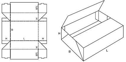 Katalog FEFCO - wzór opakowania nr 437