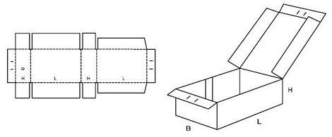 Katalog FEFCO - wzór opakowania nr 440