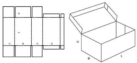 Katalog FEFCO - wzór opakowania nr 441