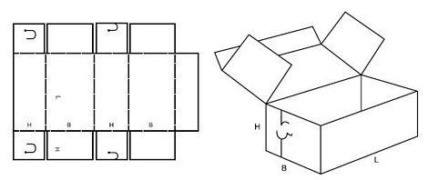 Katalog FEFCO - wzór opakowania nr 442